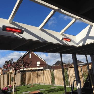 Harcosun terrasheater plafondsteun voorzijde