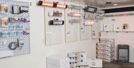Showroom terrasverwarming webshop Harco Trading