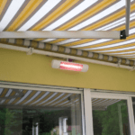 Tansun Bahama Single Ultra Low Glare Heater 1.5kW White sfeer