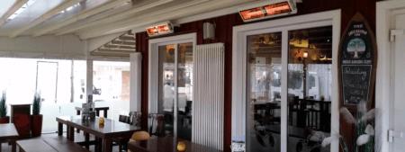 terrasverwarmer elektrisch Een warm terras Tansun Monaco Double