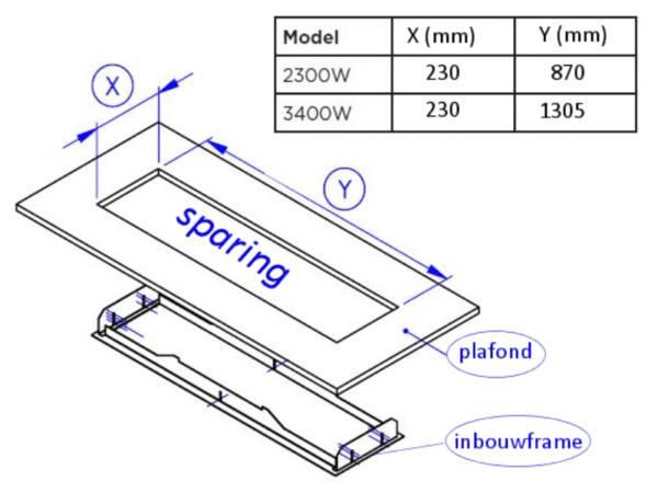 Bromic Platinum Plafond Inbouwframe