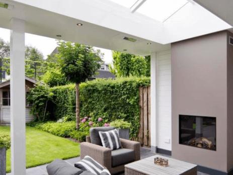 Harcosun Low Glare terrasheater plafond inbouw klassieke veranda