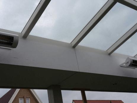 Solamagic ECO 2000 terrasheater montage in lichtstraat