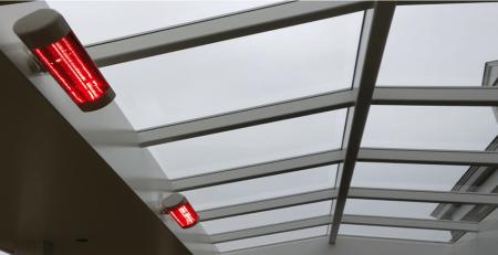terrasverwarming in lichtstraat