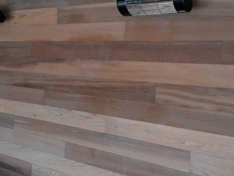 harcosun terrasverwarming montage op houten wand